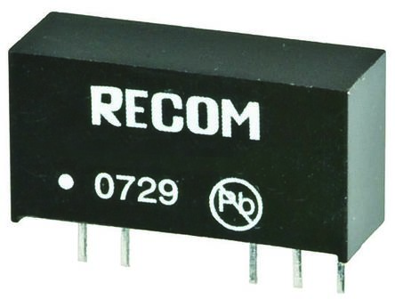 Recom RKZ 2W Isolated DC-DC Converter Through Hole, Voltage in 21.6 → 26.4 V dc, Voltage out -9 V dc, 15 V dc
