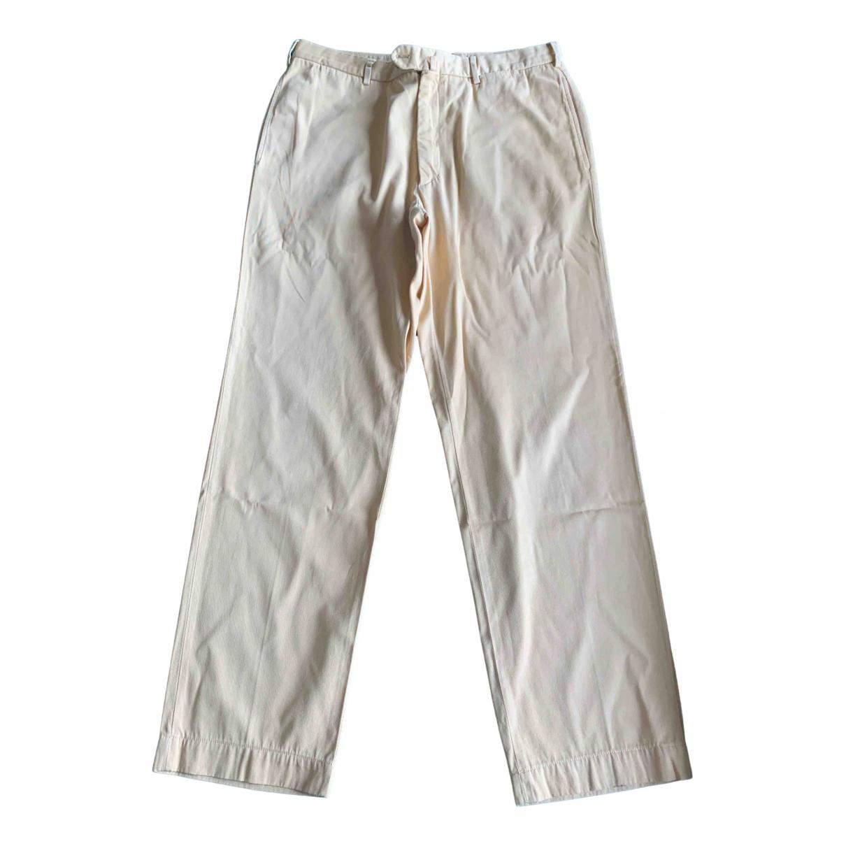 Loro Piana N Yellow Cotton Trousers for Men 52 IT