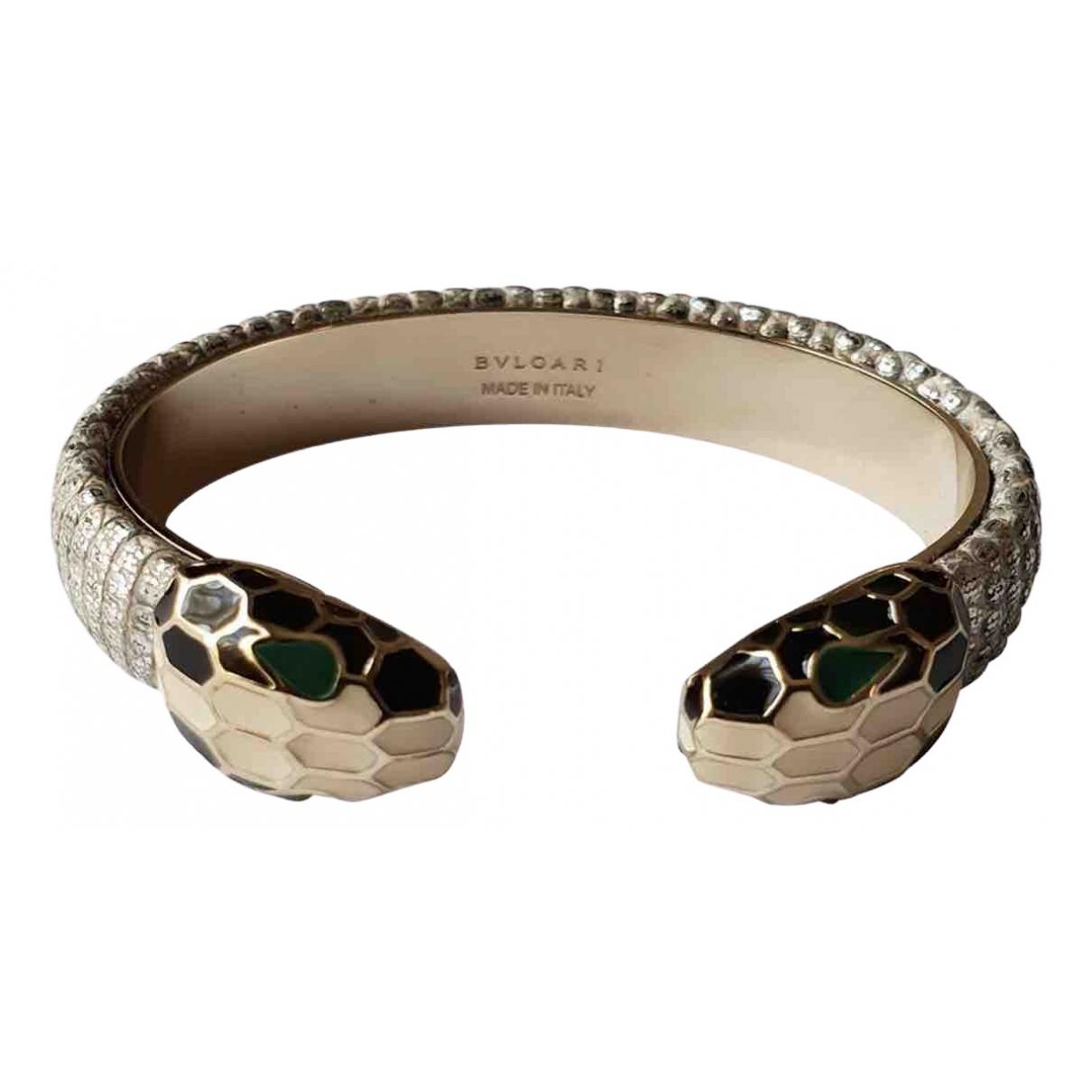 Bvlgari Serpenti Armband in  Silber Leder