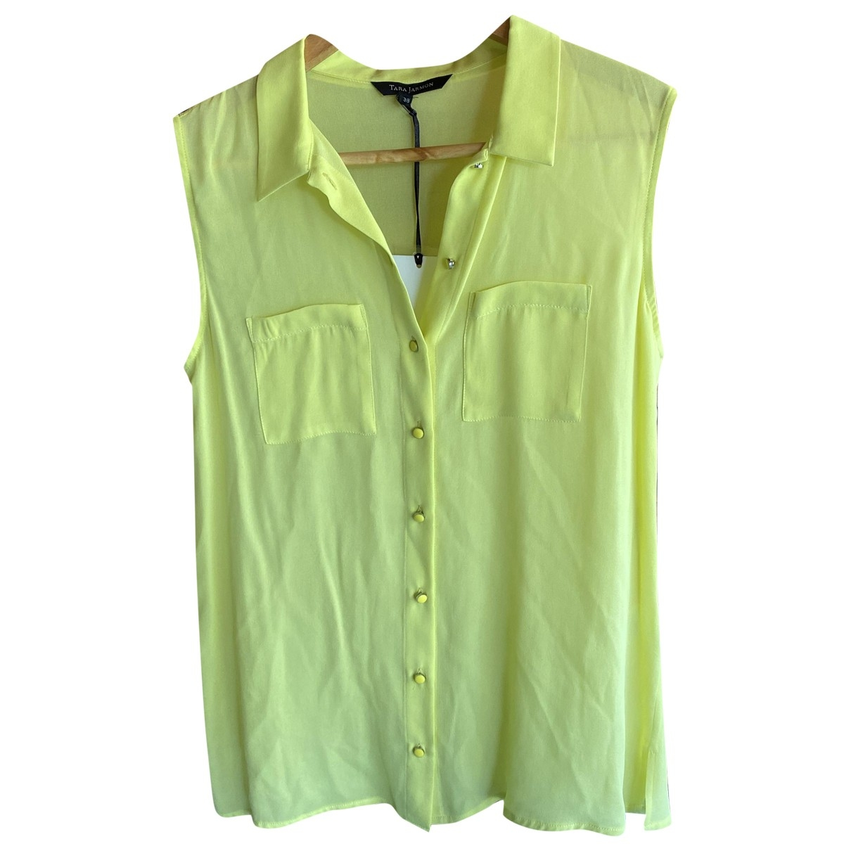 Tara Jarmon \N Yellow Silk  top for Women 38 FR