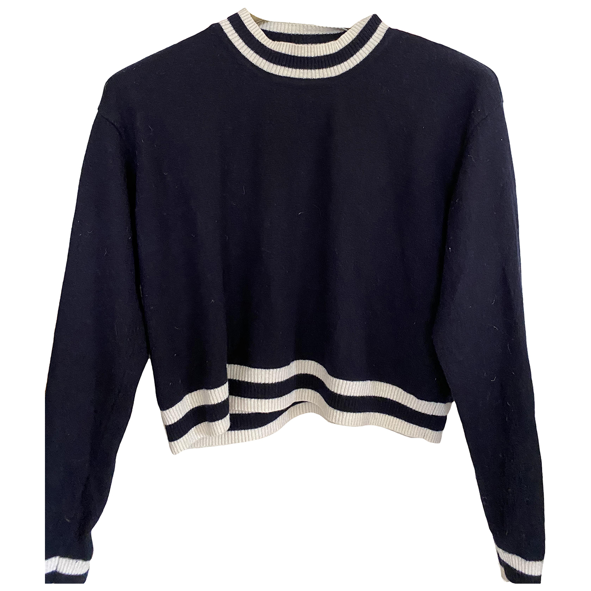 Sandro - Pull   pour femme en laine - bleu