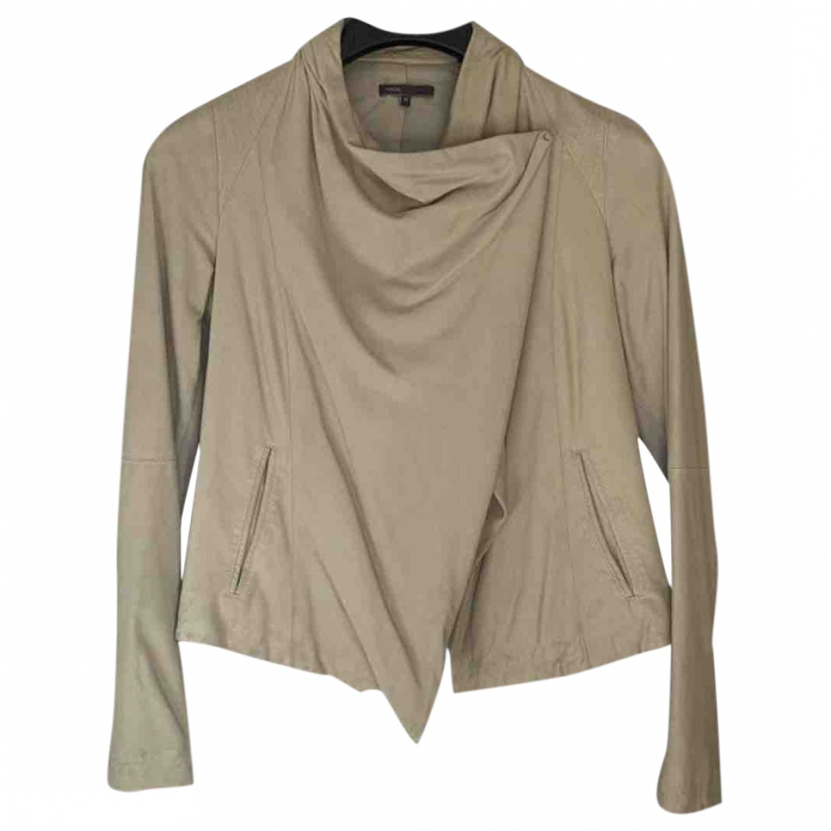 Vince \N Beige Suede jacket for Women XS International