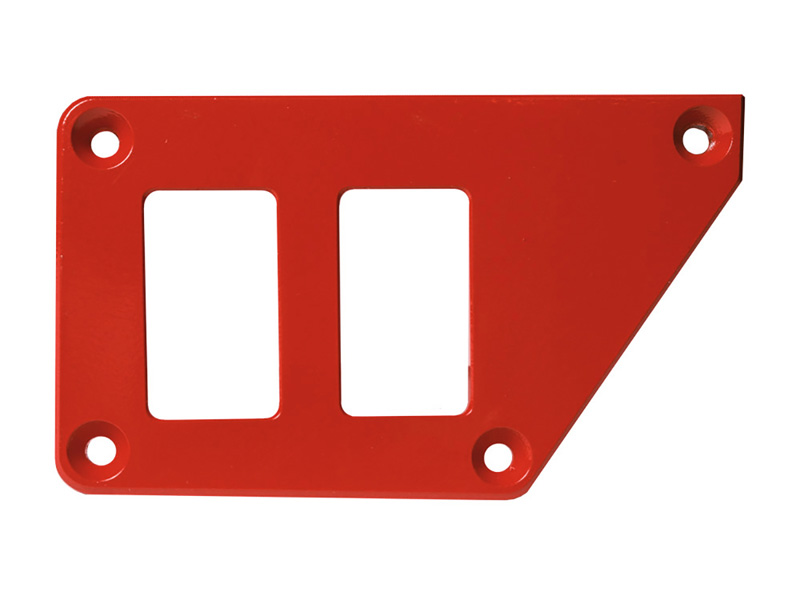 Left Side 2 Switch Dash Plate for Polaris RZR Red PRP Seats ODL-217063