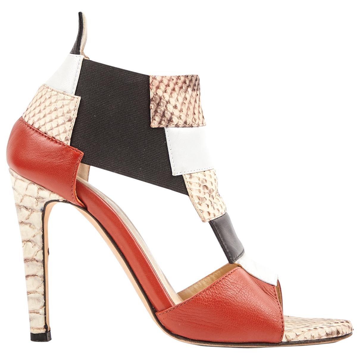Hôtel Particulier \N Multicolour Leather Sandals for Women 36.5 EU