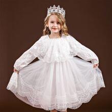 Tutu Kleid mit Kontrast Spitze und Bogenkante