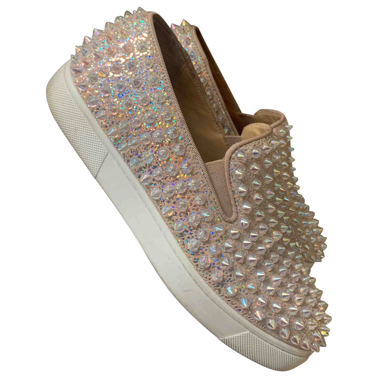 Christian Louboutin Roller Boat Multicolour Glitter Trainers for Women 36 EU