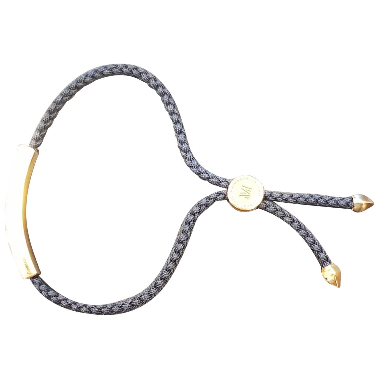 Monica Vinader - Bracelet   pour femme en plaque or - dore