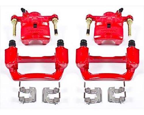 Power Stop S3424 Performance Powder Coated Calipers w/Brackets Rear S3424