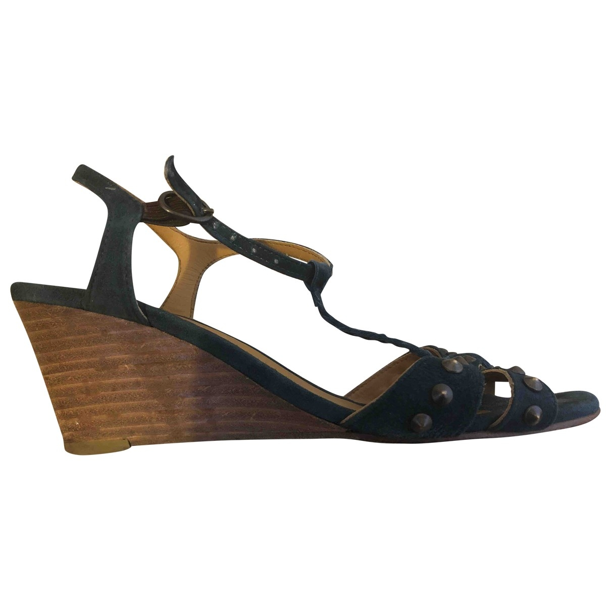 Zadig & Voltaire \N Green Leather Sandals for Women 38 EU