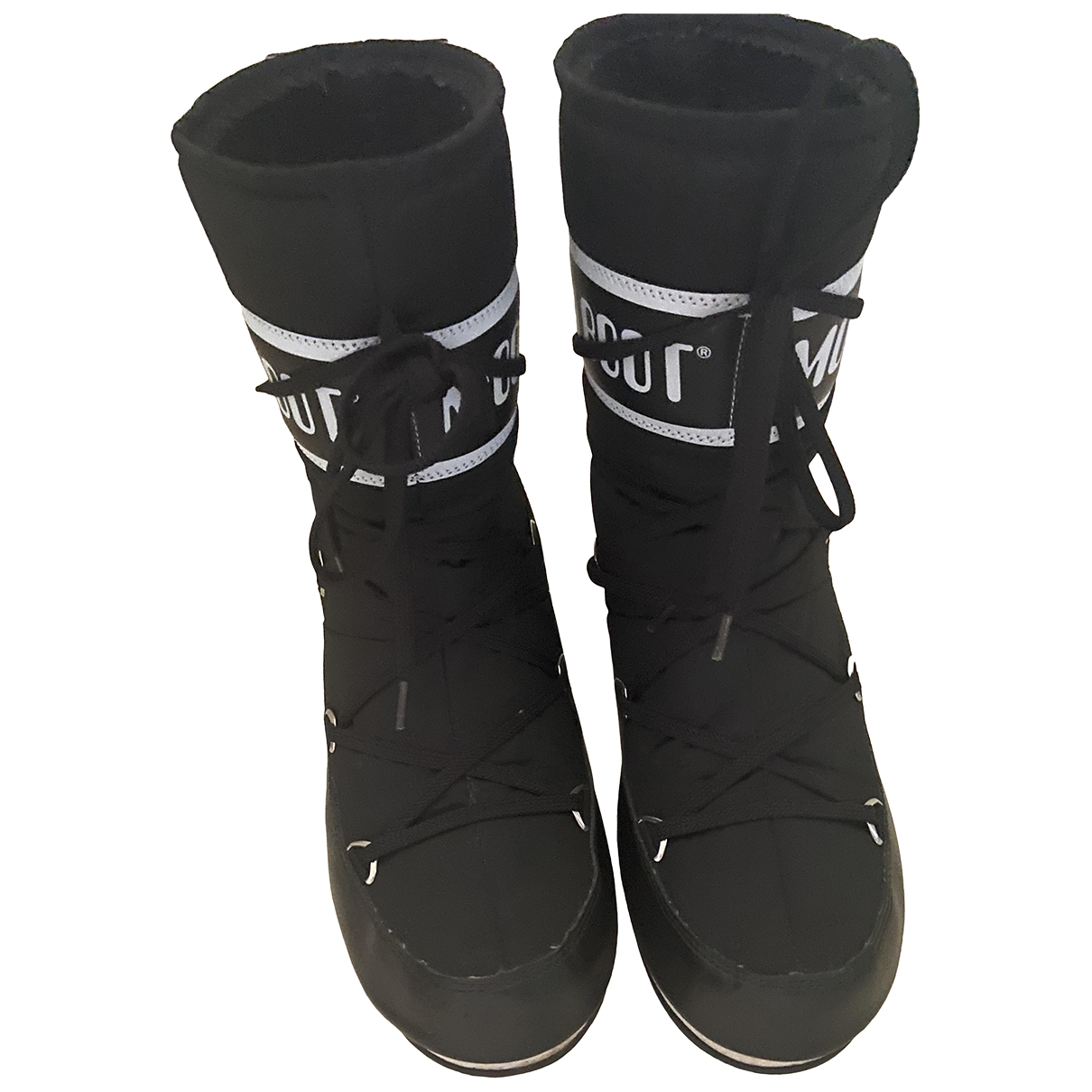 Moon Boot - Bottes   pour femme en caoutchouc - noir