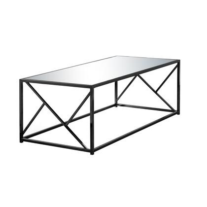 I 3395 Coffee Table - Black Nickel Metal / Mirror