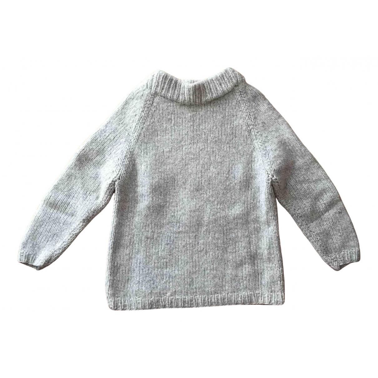 Non Signe / Unsigned Oversize Pullover.Westen.Sweatshirts  in  Grau Wolle