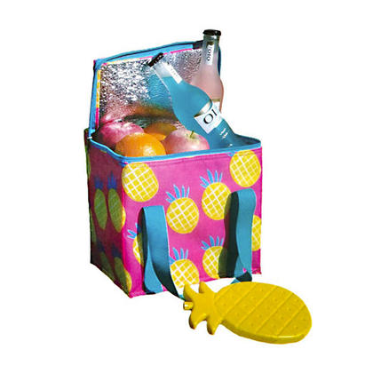 We Remain Open Printed 7L Insulated Cooler Bag with Ice Pack - Pineapple