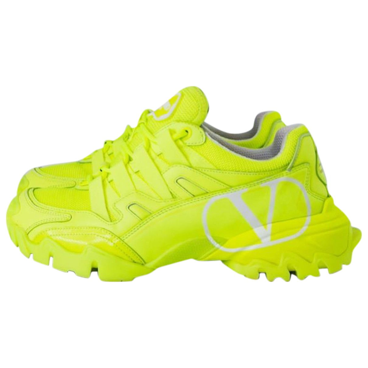 Valentino Garavani Bounce VLTN Yellow Trainers for Women 37 EU
