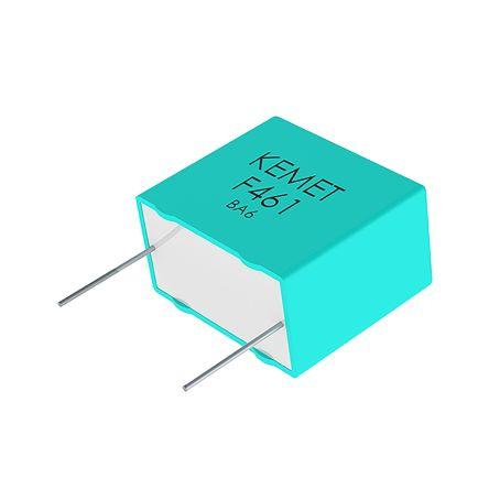 KEMET 100nF Polypropylene Capacitor PP 250 V ac, 560 V dc ±10% Tolerance Through Hole R75L Series (900)