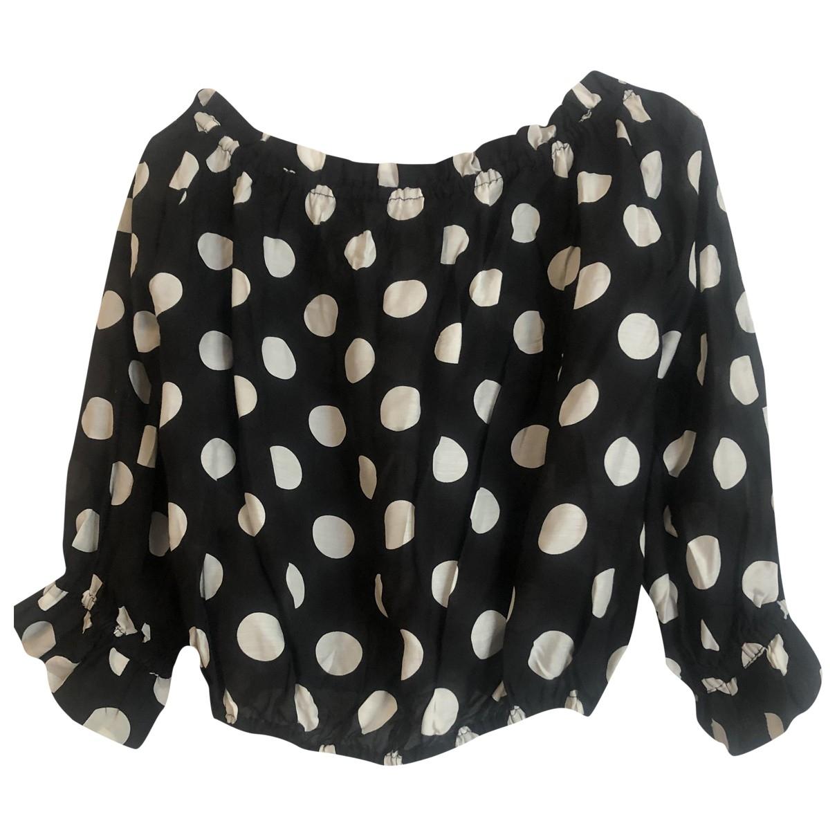 Rixo \N Black Cotton  top for Women XS International