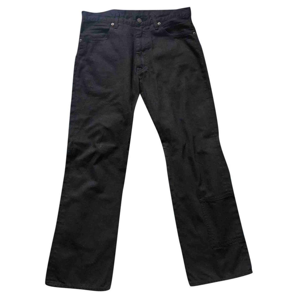 Yohji Yamamoto \N Black Cotton Jeans for Men 40 FR