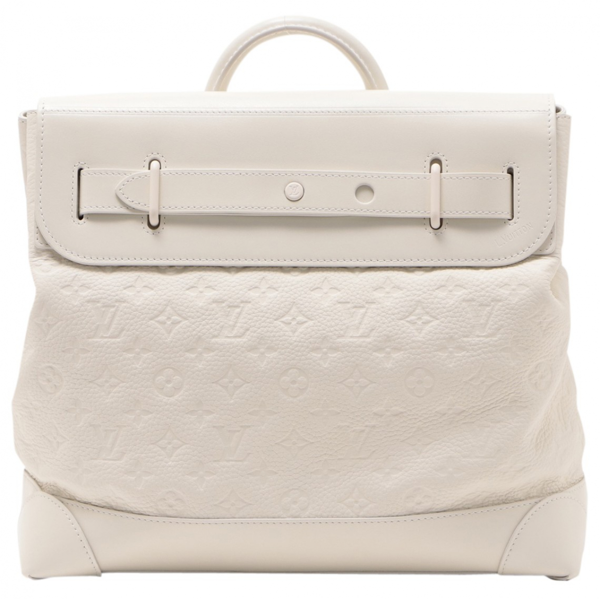 Louis Vuitton - Sac a main City Steamer pour femme en toile - blanc