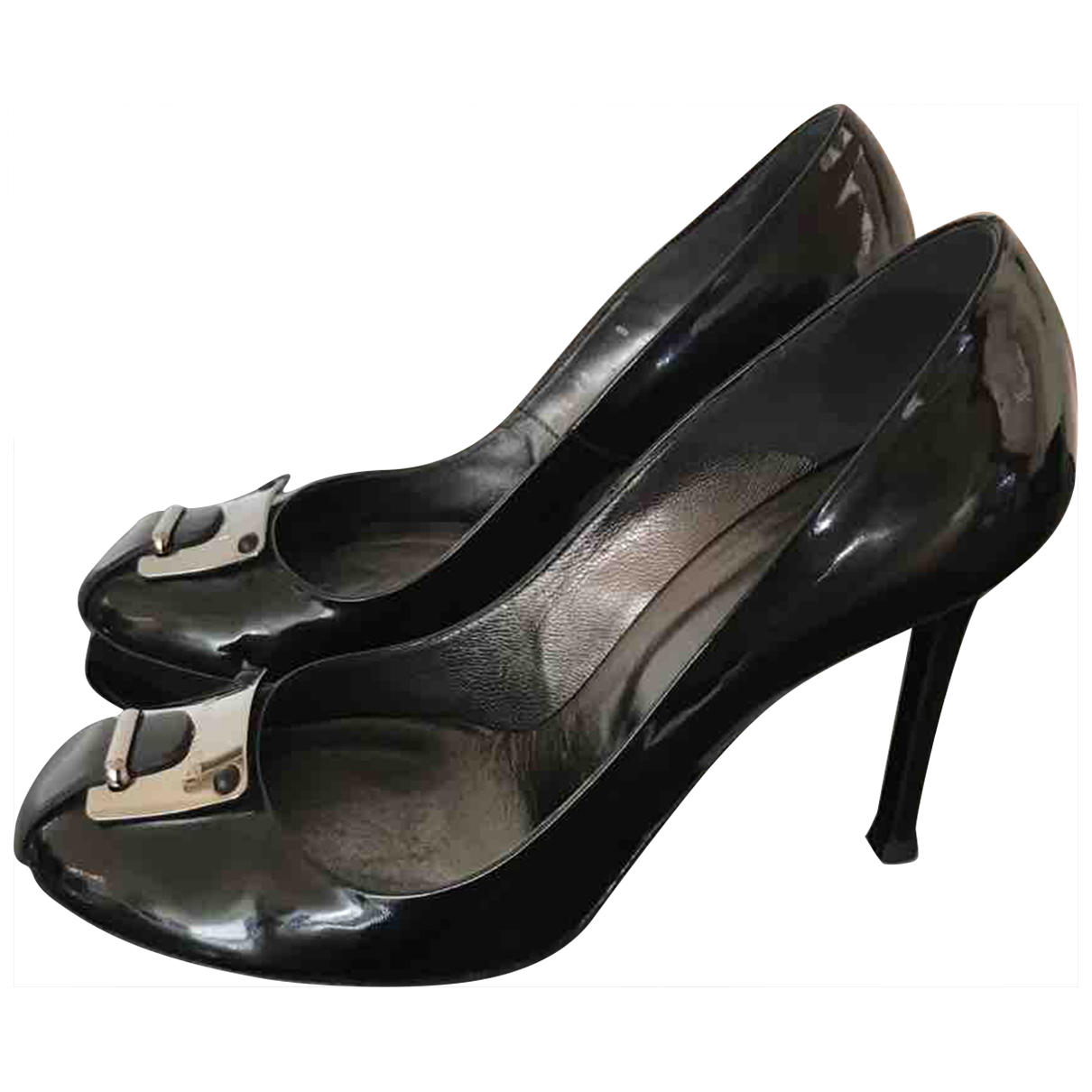 Versace \N Pumps in  Schwarz Lackleder