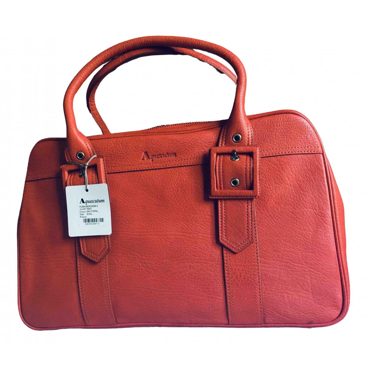 Aquascutum \N Handtasche in Leder