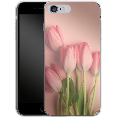 Apple iPhone 6s Plus Silikon Handyhuelle - Pink Tulips von Joy StClaire