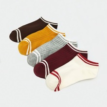 Striped Cotton Socks 5pairs
