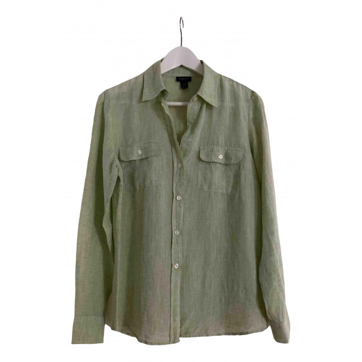 Gant \N Green Linen  top for Women 38 FR