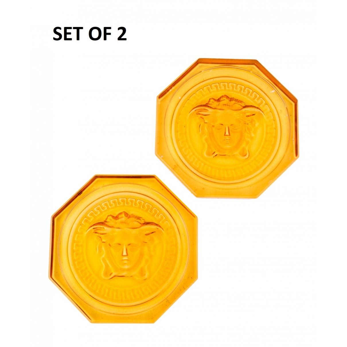 Versace - Arts de la table   pour lifestyle en cristal - orange