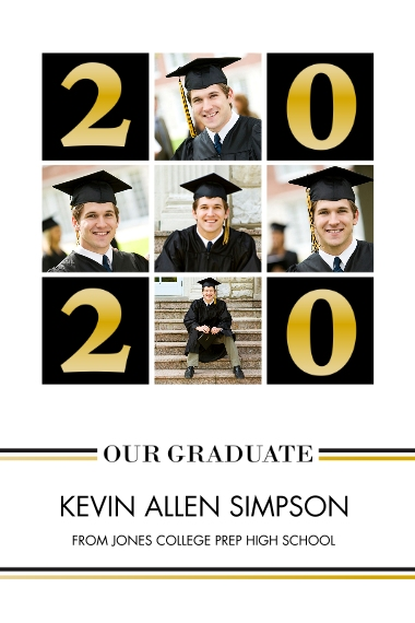 Graduation 20x30 Adhesive Poster, Home Décor -Basic Blocks