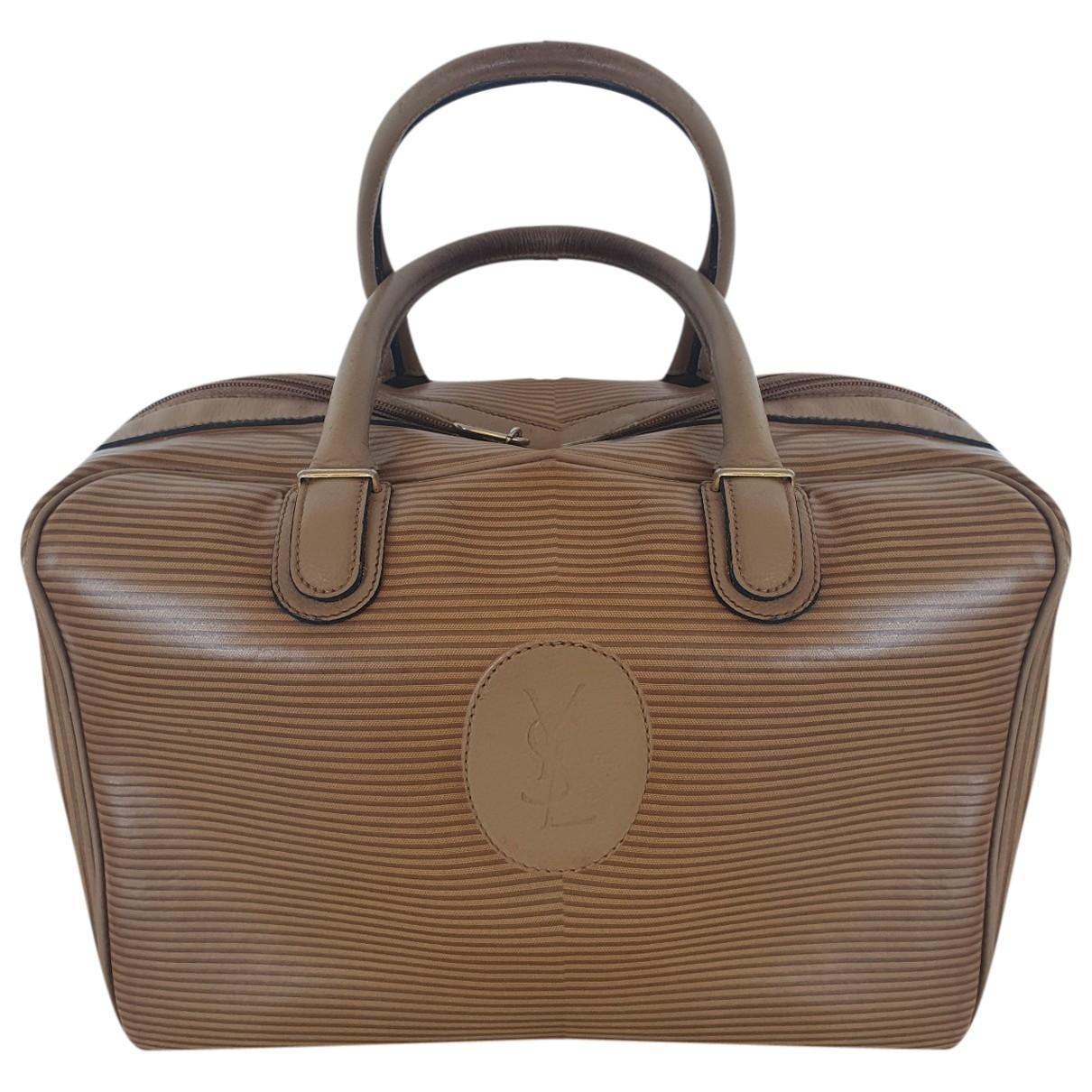 Yves Saint Laurent \N Khaki Cloth handbag for Women \N