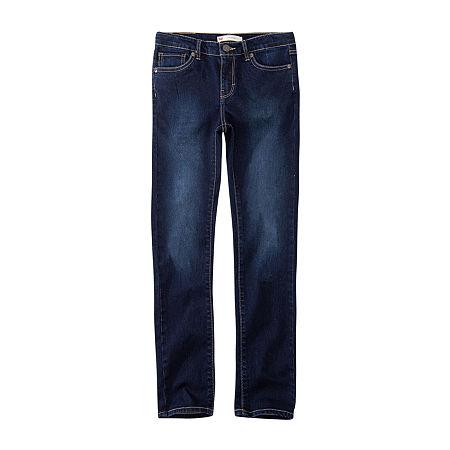 Levi's Big Girls 711 Skinny Fit Jean, 8 , Blue