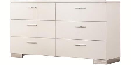 202993 Jessica Dresser with Six Drawers  Dovetail Drawer Construction  Solid Wood and Ash Veneers in