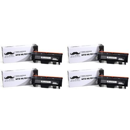 Compatible Samsung MLT-D116L cartouche de toner noire - Moustache - 4/paquet