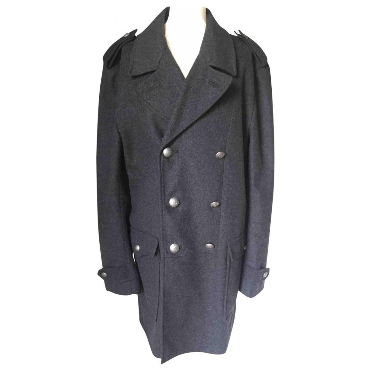Emporio Armani - Manteau   pour homme en laine - noir