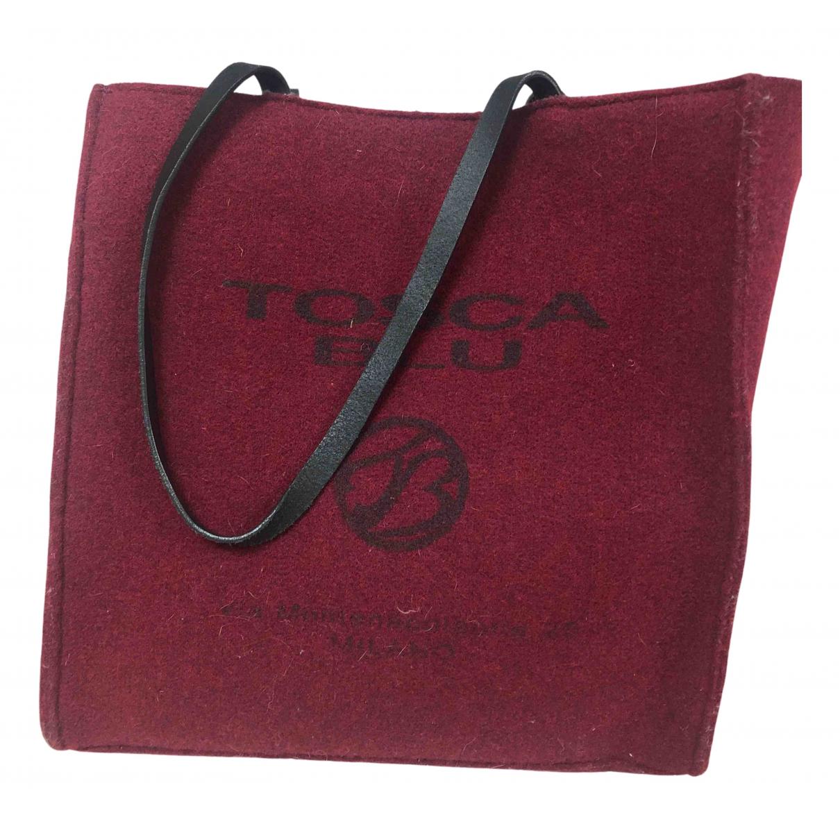 Tosca Blu - Sac a main   pour femme en laine - bordeaux