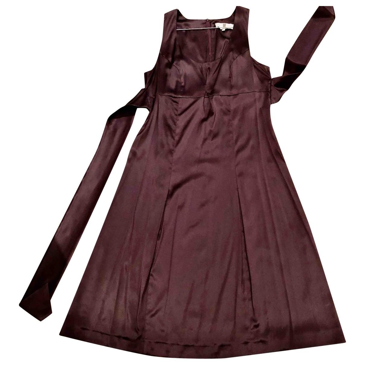 Irene Van Ryb \N Kleid in  Bordeauxrot Seide
