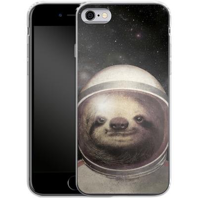 Apple iPhone 6 Silikon Handyhuelle - Space Sloth von Eric Fan