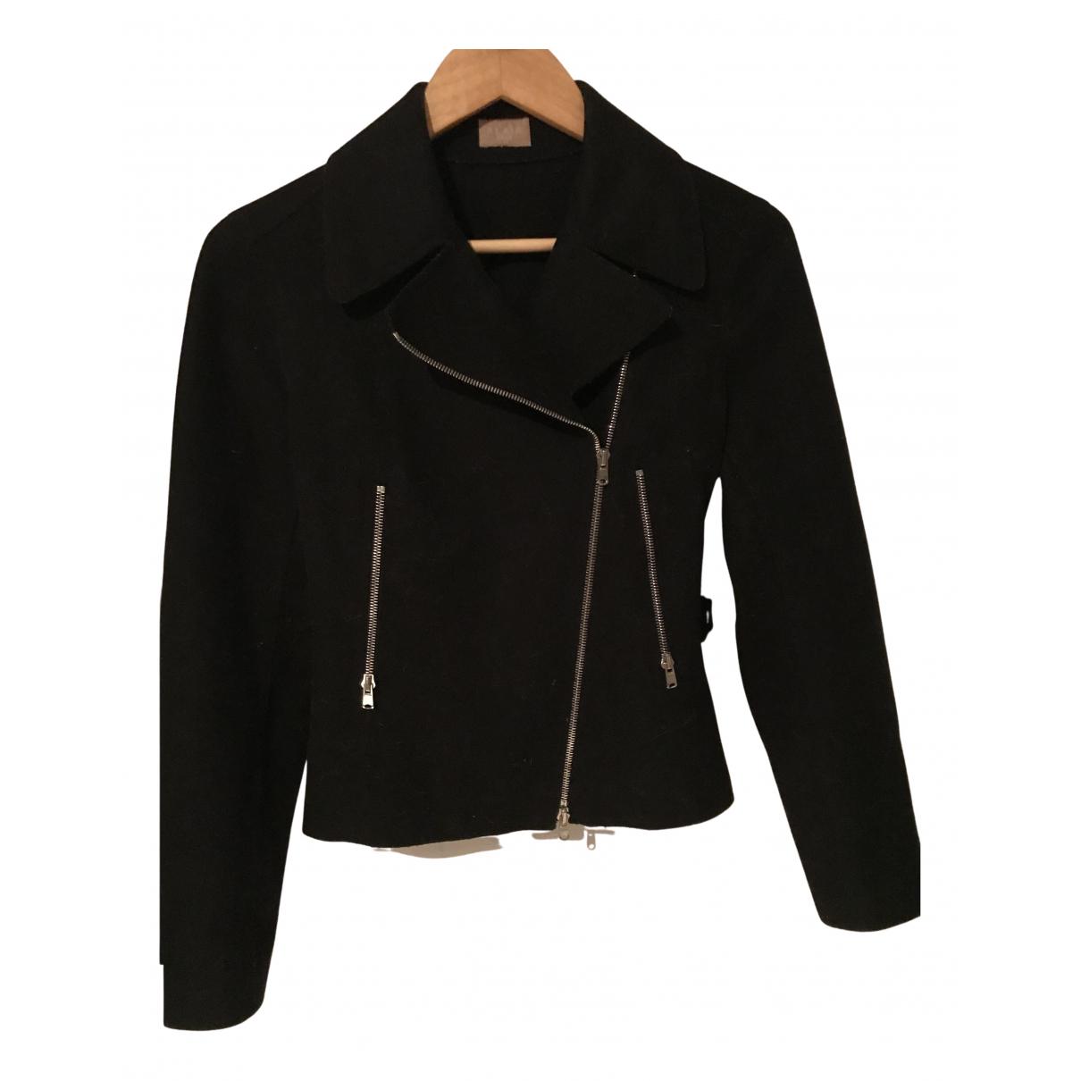 Alaia - Blouson   pour femme en laine - noir