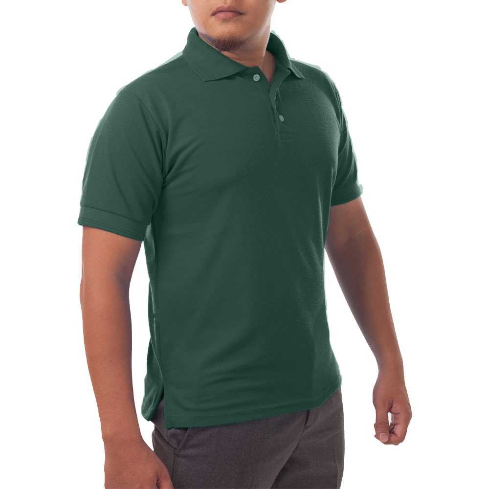 Page & Tuttle Solid Jersey Short Sleeve Polo Golf Shirt Green- Mens- Size S
