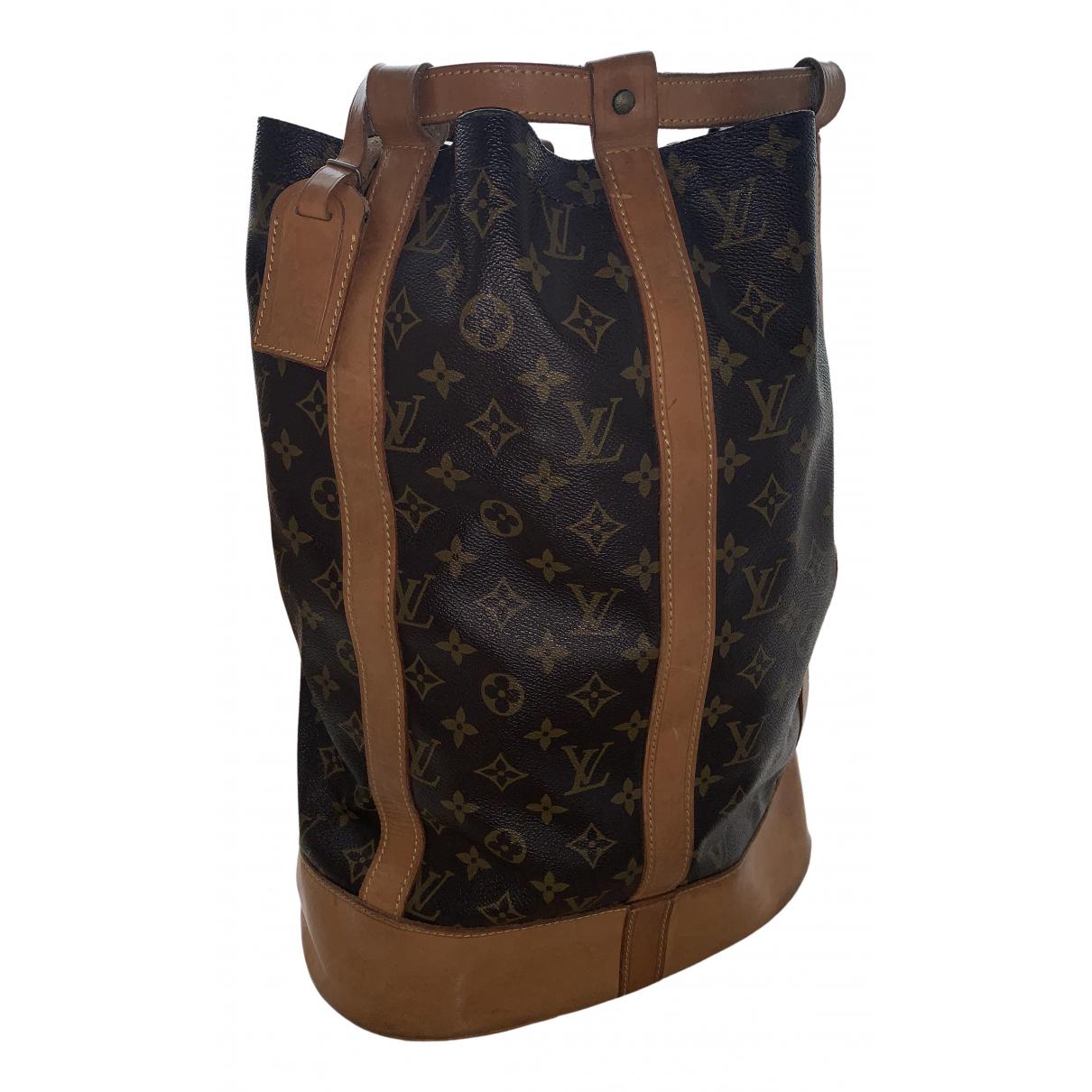 Louis Vuitton - Sac de voyage Randonnee pour femme en toile - marron