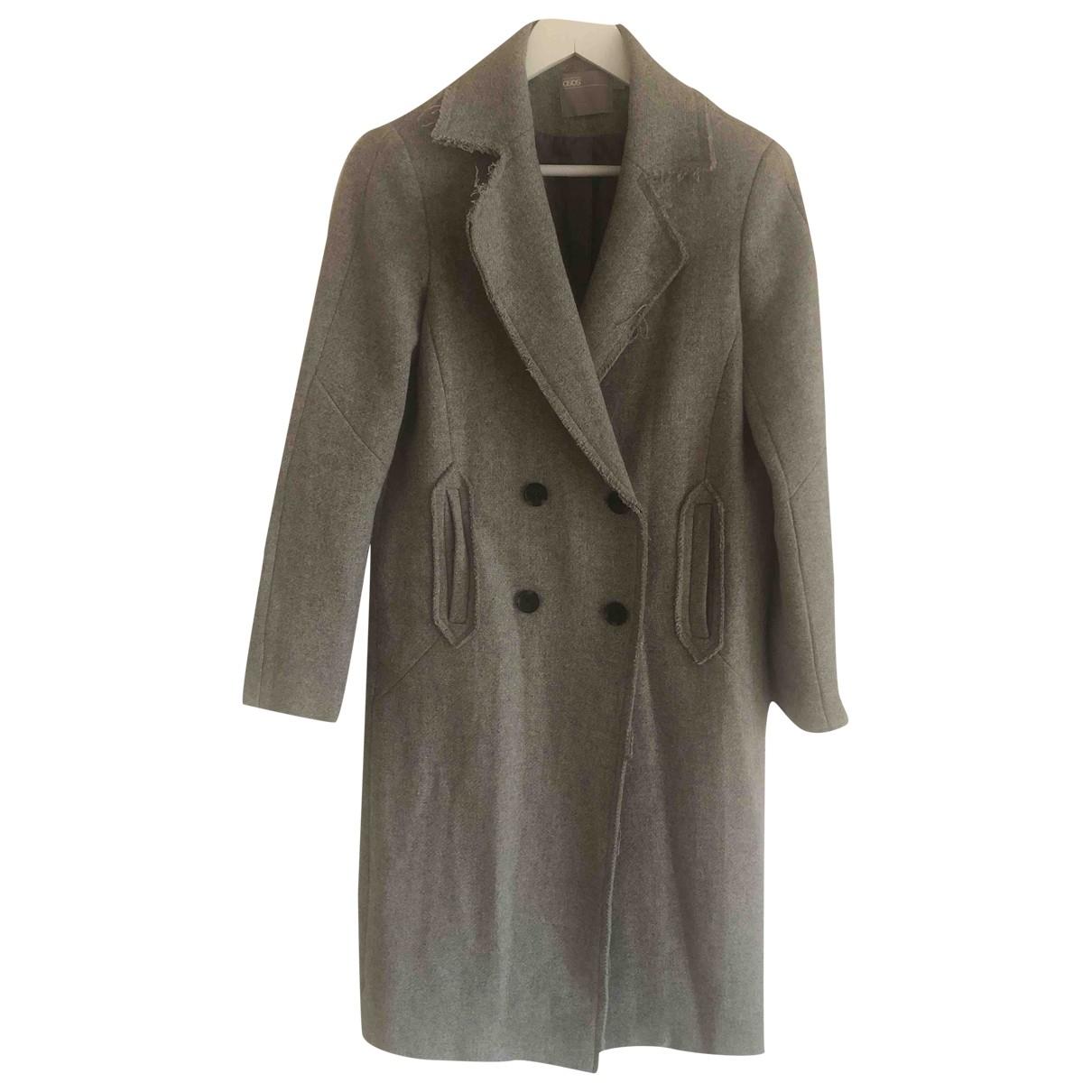 Asos - Manteau   pour femme en laine - gris