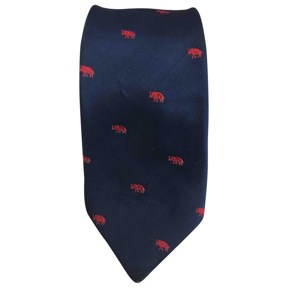 Lanvin \N Krawatten in  Blau Seide