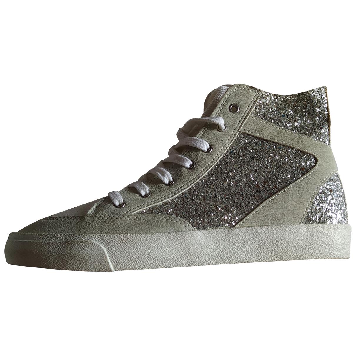 Zara \N Grey Glitter Trainers for Women 40 EU