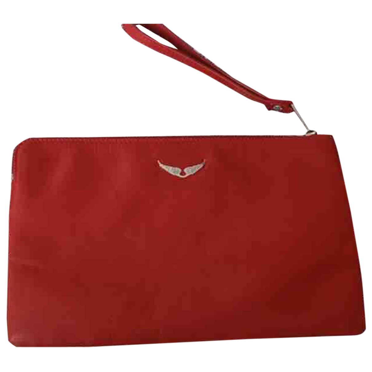 Zadig & Voltaire \N Clutch in  Rot Leder
