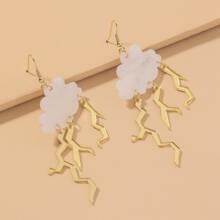 Cloud Charm Drop Earrings