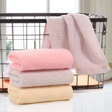 1 pieza de toalla absorbente de algodon solido
