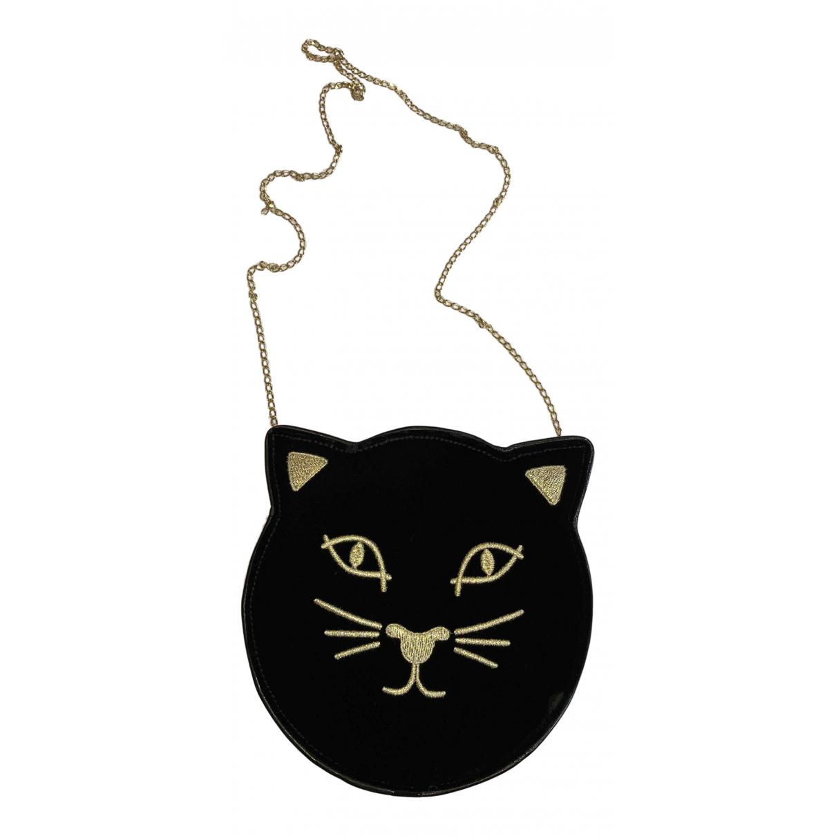 Charlotte Olympia N Black Velvet handbag for Women N