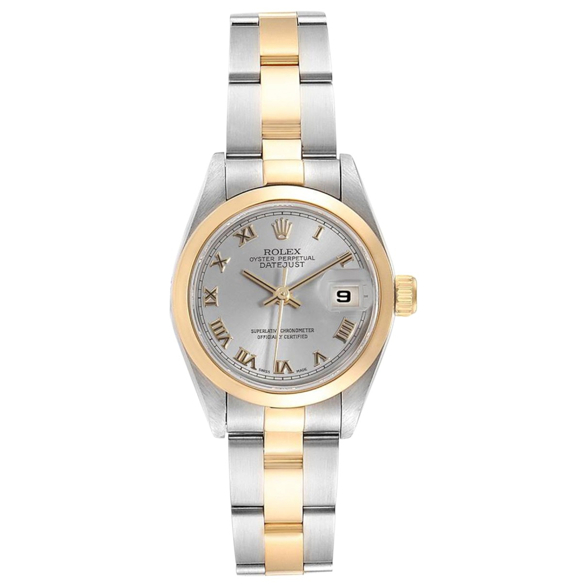 Rolex Lady DateJust 26mm Grey gold and steel watch for Women \N