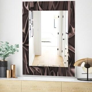 Designart 'Folded Dark Silk Waves' Modern Mirror - Wall Mirror (23.7 in. wide x 31.5 in. high)
