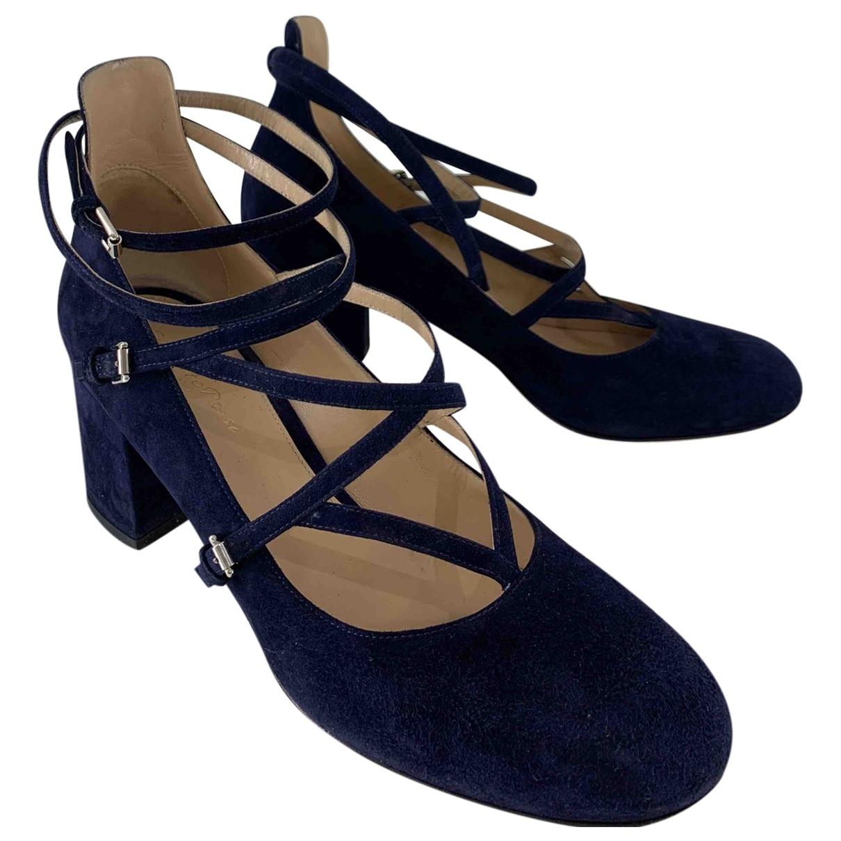 Gianvito Rossi - Escarpins   pour femme en suede - bleu